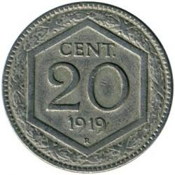 Moneda > 20centésimos, 1918-1920 - Italia  - reverse