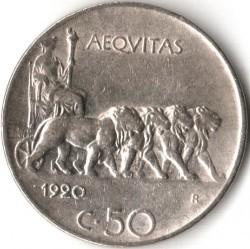 العملة > 50سنتيسيمي, 1919-1925 - إيطاليا  - reverse