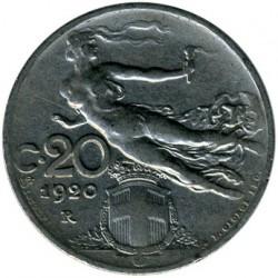 العملة > 20سنتيسيمي, 1908-1922 - إيطاليا  - reverse