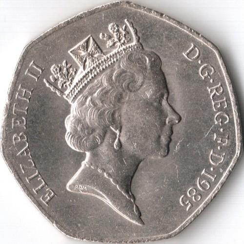 50 Pence 1985 1997 Vereinigtes Königreich Münzen Wert Ucoinnet