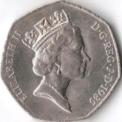 Монета > 50пенсов, 1985-1997 - Великобритания  - obverse