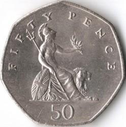 Монета > 50пенсов, 1985-1997 - Великобритания  - reverse