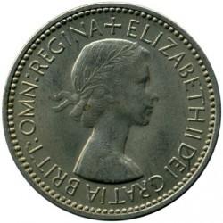 Moneta > 1scellino, 1953 - Regno Unito  (Stemma inglese, tre leoni su scudo incoronato) - obverse