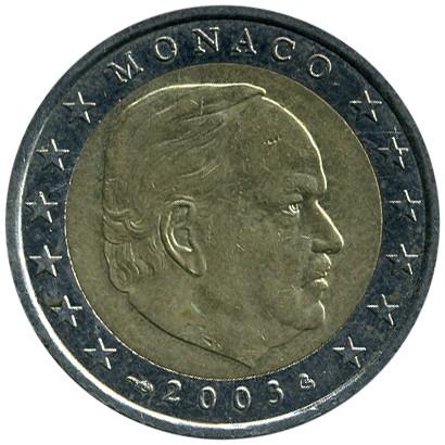 2 Euro 2001 2004 Monaco Münzen Wert Ucoinnet