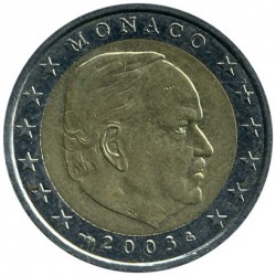 Moneda > 2euros, 2001-2004 - Mónaco  - reverse