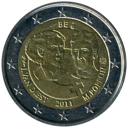 2 Euro 2011 International Womens Day Belgien Münzen Wert