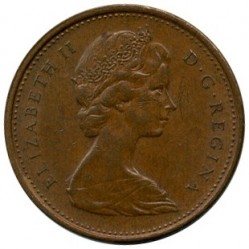 Coin > 1 cent, 1975 - Canada  - obverse