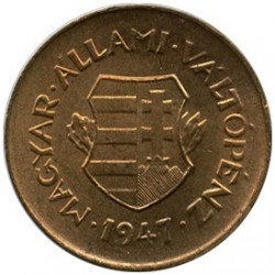 Монета > 2филлера, 1946-1947 - Венгрия  - reverse