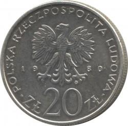 Монета > 20злотих, 1980 - Польща  (XXII Літні Олімпійські ігри, Москва 1980) - obverse
