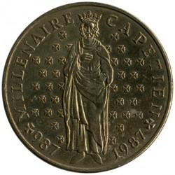 Մետաղադրամ > 10ֆրանկ, 1987 - Ֆրանսիա  (Millennium of the Capetian dynasty) - obverse