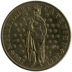 Մետաղադրամ > 10ֆրանկ, 1987 - Ֆրանսիա  (Millennium of the Capetian dynasty) - reverse