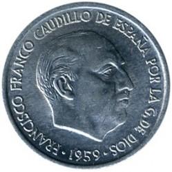 Монета > 10сентимос, 1959 - Испания  - obverse