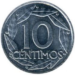 Монета > 10сентимос, 1959 - Испания  - reverse