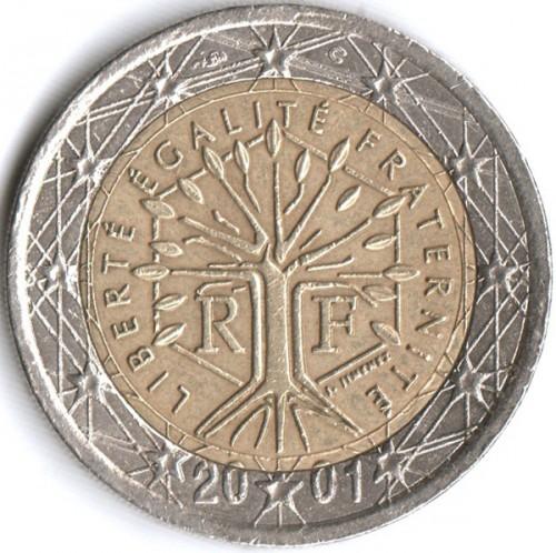 2 Euro Münze Wert 2001 Liberte Egalite Fraternite Ausreise Info