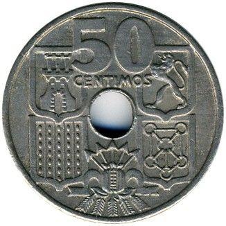 50 Centimos 1949 1963 Spanien Münzen Wert Ucoinnet