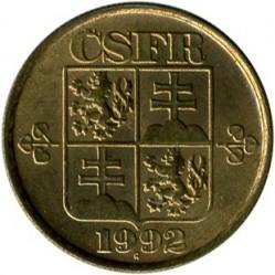 Moneta > 20halerzy, 1991-1992 - Czechosłowacja  - obverse