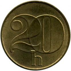 Moneta > 20halerzy, 1991-1992 - Czechosłowacja  - reverse