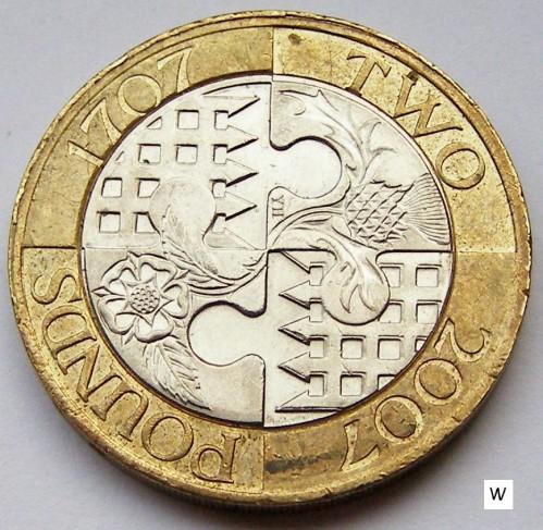 1707 2 pound coin worth