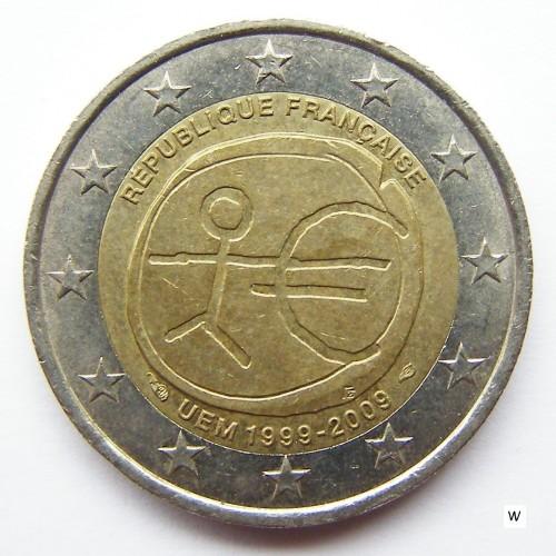 2 Euro 2009 10 Jahre Euro Frankreich Münzen Wert Ucoinnet