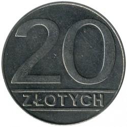 Кованица > 20злота, 1989-1990 - Пољска  - reverse
