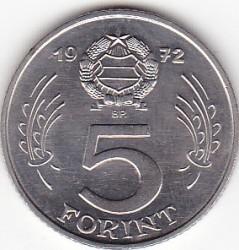 Νόμισμα > 5Φιορίνια, 1972 - Ουγγαρία  - reverse