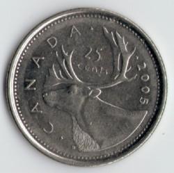 Moneta > 25centesimi, 2003-2019 - Canada  - reverse