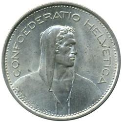 Moeda > 5francos, 1931-1969 - Suíça  - obverse