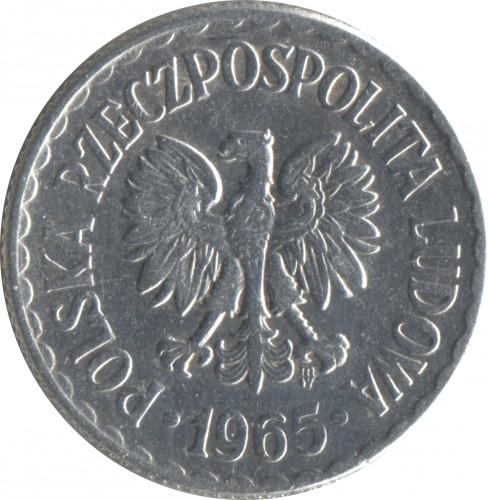 1 Złoty 1965 Polen Münzen Wert Ucoinnet