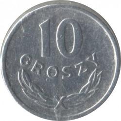 سکه > 10گروژی, 1949 - لهستان  (Aluminium, 0.7g) - reverse