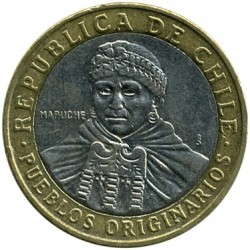 Moneda > 100pesos, 2001-2017 - Chile  - reverse