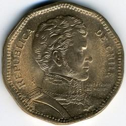 Moneda > 50pesos, 1988-2017 - Chile  - obverse