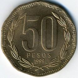Moneda > 50pesos, 1988-2017 - Chile  - reverse