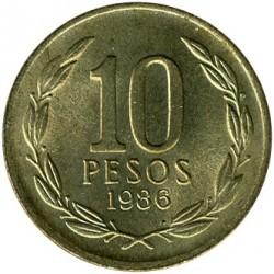 Moneta > 10pesos, 1981-1990 - Cile  - reverse