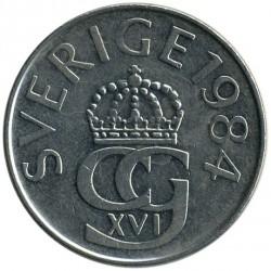 Mynt > 5kroner, 1976-1992 - Sverige  - obverse