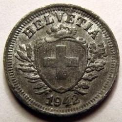 Moeda > 1rappen, 1942-1946 - Suíça  - obverse