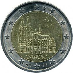 Moneta > 2eurai, 2011 - Vokietija  (Kelno katedra, Šiaurės Reinas - Vestfalija) - obverse