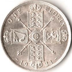 Minca > 2shillings(florin), 1920-1926 - Veľká Británia  - reverse