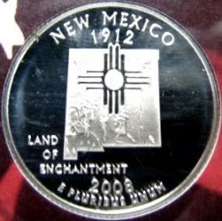 سکه > ¼دلار, 2008 - ایالات متحده آمریکا  (New Mexico State Quarter) - reverse