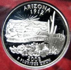 سکه > ¼دلار, 2008 - ایالات متحده آمریکا  (Arizona State Quarter) - reverse