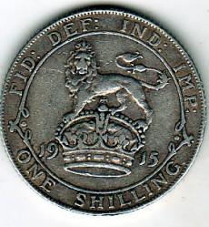 Minca > 1shilling, 1911-1919 - Veľká Británia  - reverse