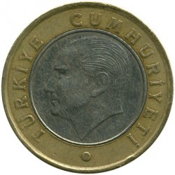 Монета > 1лира, 2011 - Турция  - reverse