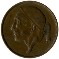 Monedă > 50centime, 1956-2001 - Belgia  (Legend in Dutch - 'BELGIE') - obverse