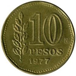 سکه > 10پزو, 1977 - آرژانتین  (200th Anniversary - Birth of Guillermo Brown) - reverse