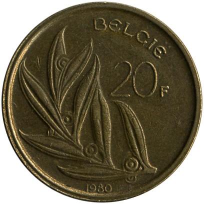 20 Franken 1980 1993 België Belgien Münzen Wert Ucoinnet