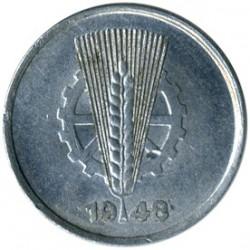 Pièce > 1pfennig, 1948-1950 - Allemagne - RDA  - obverse