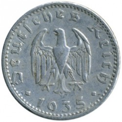 Pièce > 50reichspfennig, 1935 - Allemagne - Troisième Reich  - reverse