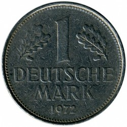 Coin > 1 mark, 1972 - Germany  - obverse