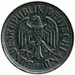 Coin > 1 mark, 1972 - Germany  - reverse