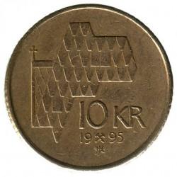 Монета > 10крон, 1995-2012 - Норвегія  - reverse