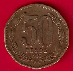 Монета > 50песо, 1985 - Чили  - reverse